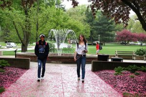 Living on campus may make you homesick.