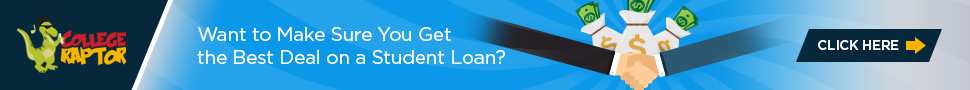 Banner ads about student loans best deal.