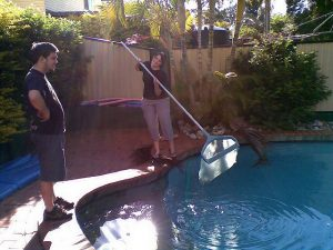Great summer job - pool cleaner