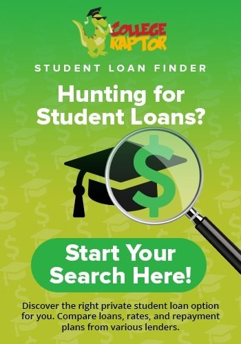 Discover personalized private loan options with College Raptor Student Loan Finder