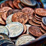 Coins super close-up.