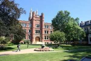 Case Western Reserve University brick building Haydn Hall.
