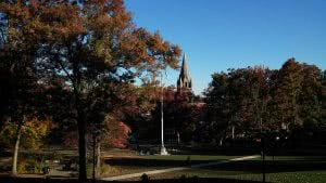 Lehigh University campus during the fall season.