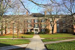 Brandon Hall at Miami University campus.
