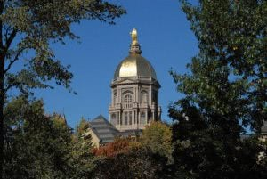 University of Notre Dame's Golden Dome.