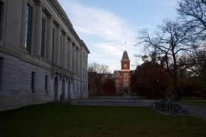 Ohio State University Library during a fall day.