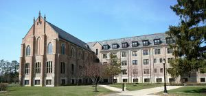 Large Pontifical College Josephinum campus building.