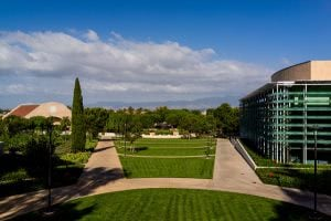 Soka University of America campus field.