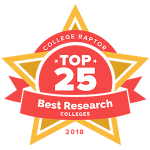 Top 25 best research colleges badge