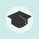 graduation hat related to your college costs list