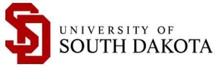 University of South Dakota logo.