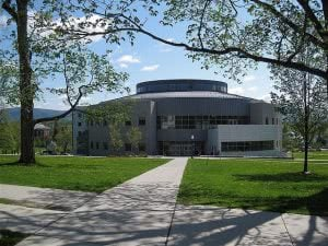 A picture of Middlebury College, an example of many rural colleges.