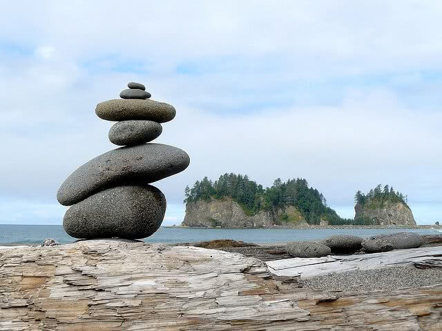 Here are some tips on balancing college prep with high school, like these balancing rocks