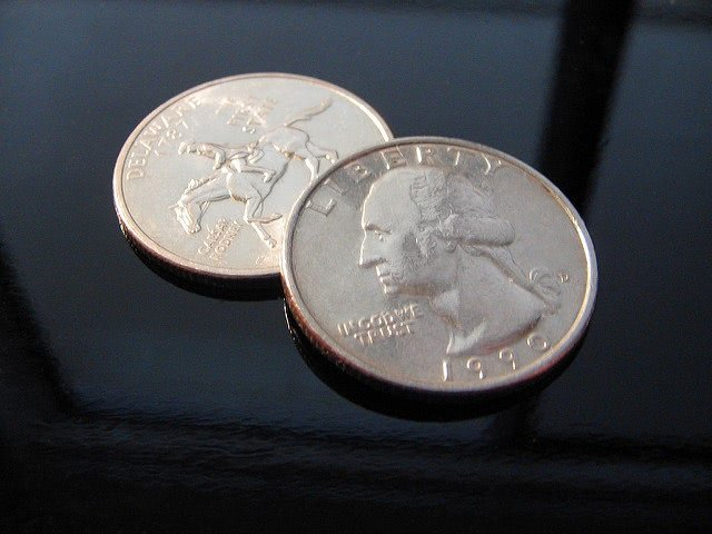 Two 1990 liberty coins.