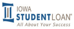 Iowa student loan company logo.