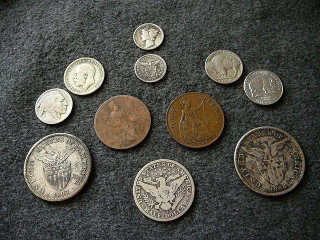 Coin collections.