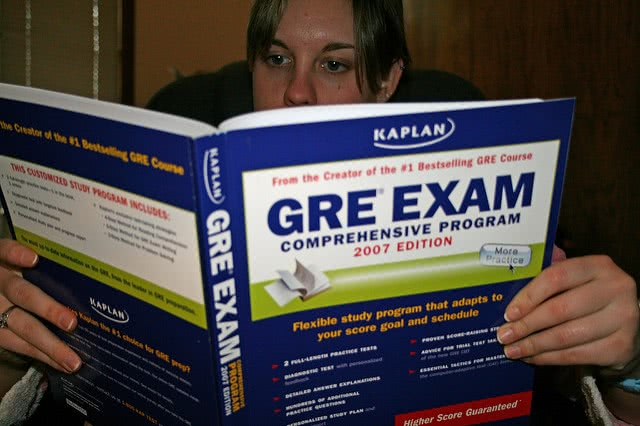 The GRE stands for Graduate Record Examinations.