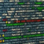 A close-up shot of a coding program.