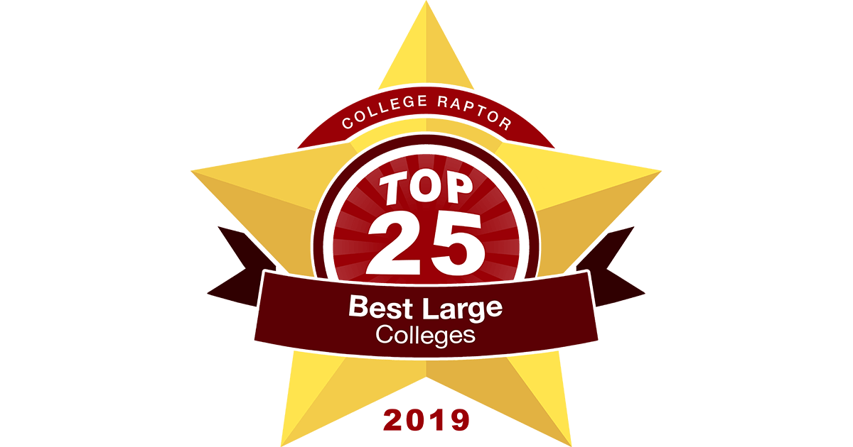 Top 25 Best Large Colleges Press Kit | 2019 - College Raptor