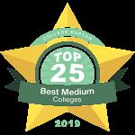 Top 25 Best Medium-Sized Colleges