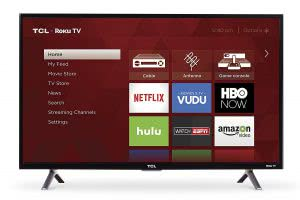 Dorm room -- A Roku Smart TV