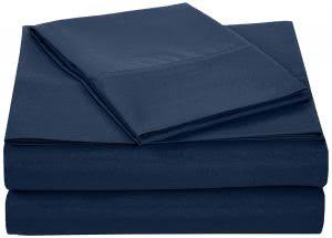 AmazonBasics microfiber twin sheets -- bedding and towels