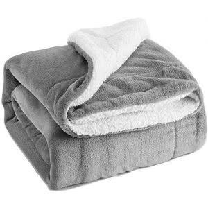 Bedsure sherpa fleece blanket -- bedding and towels