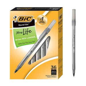 Study sessions school supplies -- bic round stic