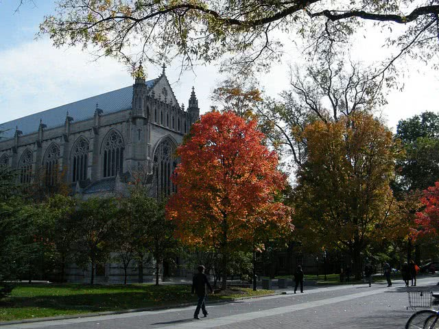 Princeton University where many student apply early decision to