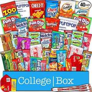 Study sessions school supplies -- collegebox snacks care package