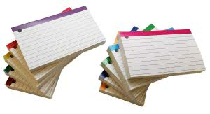 Study sessions school supplies -- debra dale designs color bar ruled index cards