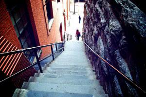 The Exorcist Stairs at Georgetown University