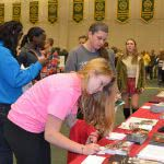 Students attend a college fair