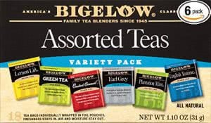 Assorted teas -- finals survival kit