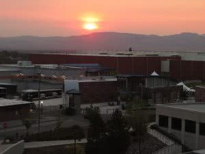 Sunrise over the University of Nevada - EA/ED application deadlines come early