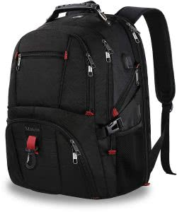 Black MATEIN Anti-Theft Laptop Travel Backpack. Click to view the Amazon page.