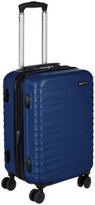 Dark blue roller suitcase. Click to view its Amazon page.