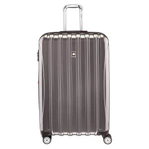 Titanium silver roller suitcase. Click to view its Amazon page.