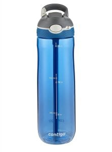 Blue Contigo water bottle with straw. Click to view its Amazon page.