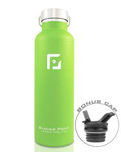 Green Glacier Point water bottle. Click to view its Amazon page.
