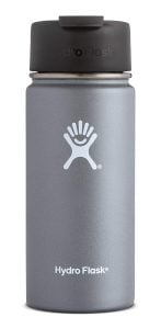 Black Hydro Flask stainless steel water bottle. Click to view its Amazon page.