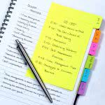 college planner sticky notes