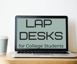 Laptop on desk lap desk
