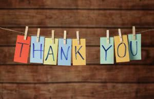 Thank you banner - it's important to send scholarship thank you letters