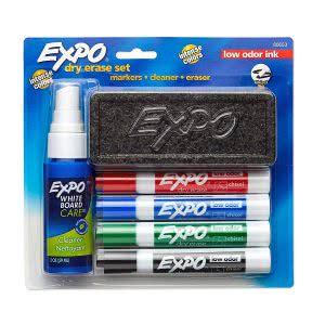 EXPO marker set best dry erase board