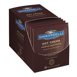 Ghiradelli hot cocoa warm clothes