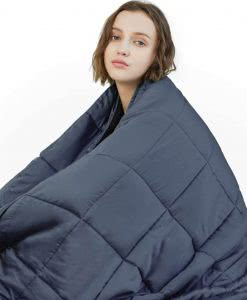 YnM weighted blanket cozy dorm room