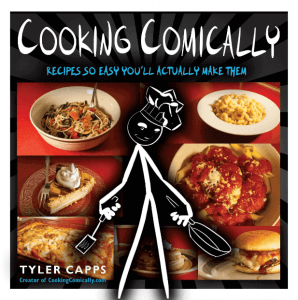 """""""Cooking Comically: Recipes So Easy You'll Actually Make Them"""" cookbook. Click to view its Amazon page."""