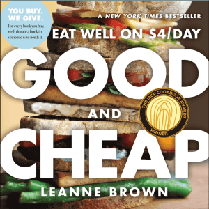 """""""Good and Cheap: Eat Well on $4 a Day"""" by Leanne Brown. Click to view its Amazon page."""