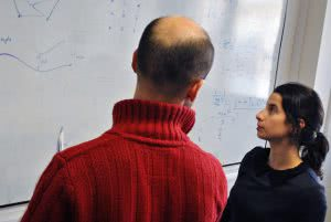 Student reading math equations - consider a work-study program